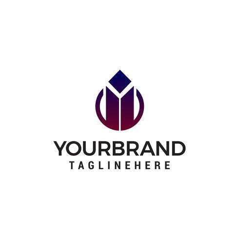 Vector de plantilla de concepto de diseño de logotipo de empresa inmobiliaria
