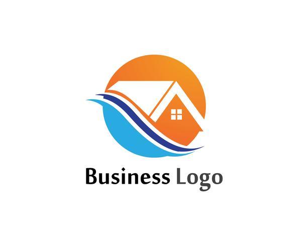home sweet home logo et symboles modèle d'icônes vecteur