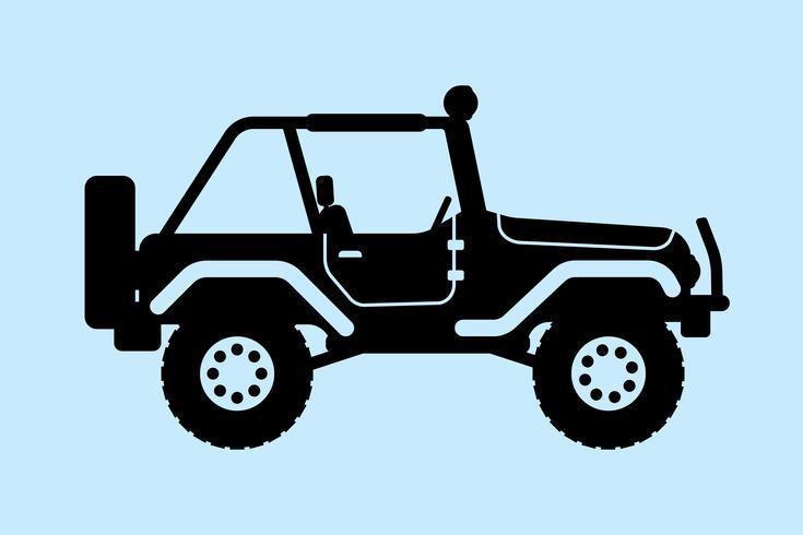 Jeep silhuett. vektor illustration