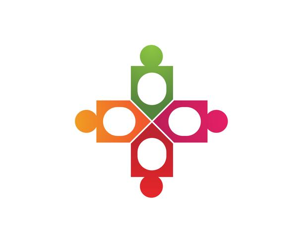 onion Community people care logo and symbols template