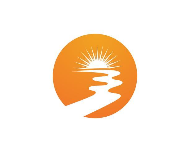Ilustração do ícone do vetor Rio Logo Template ,,