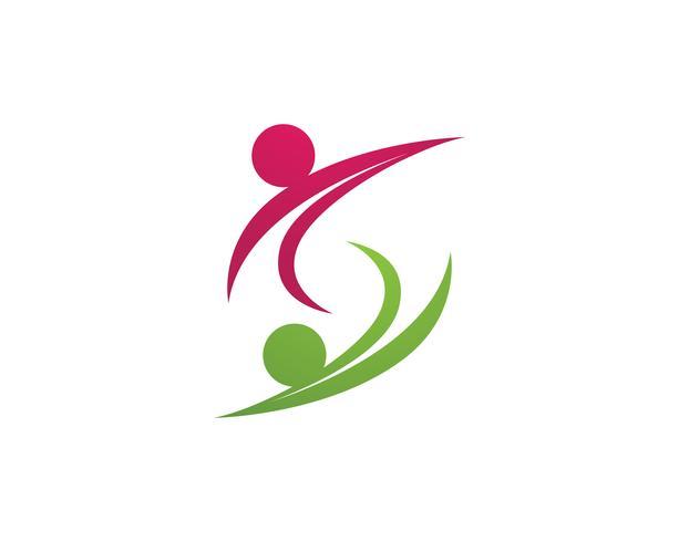 Human character logo sign,Health care logo. Nature logo sign. Green life logo sign vector