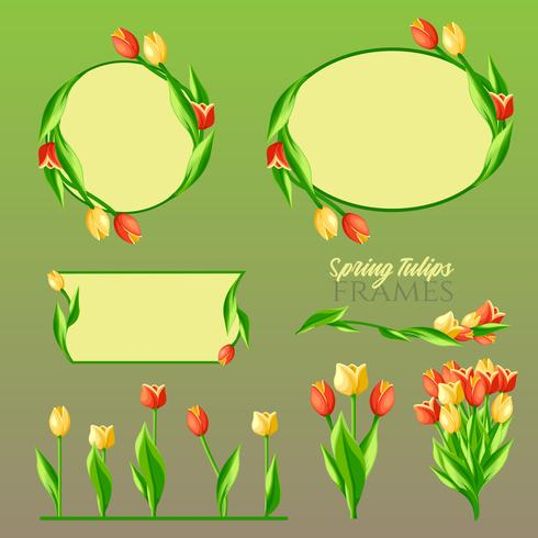 Frühling Tulpen Frames Set