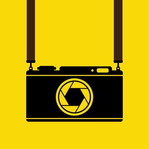 Retro camera, vector illustration