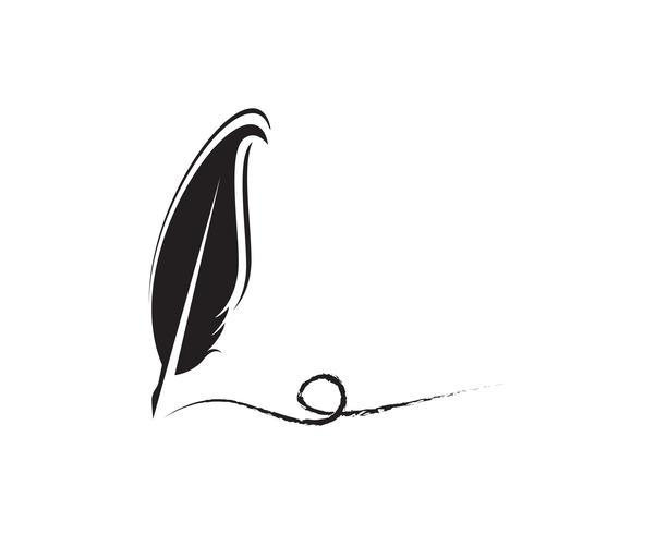 Veer pen schrijven teken logo sjabloon app pictogrammen