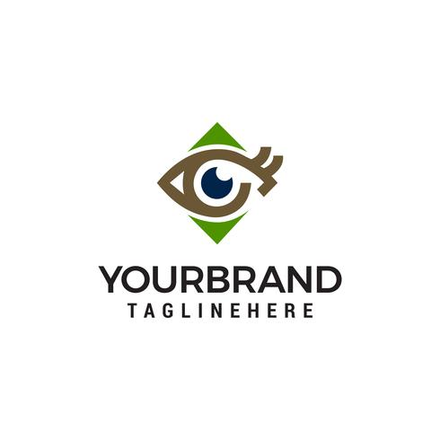 eye logo design concept template vector