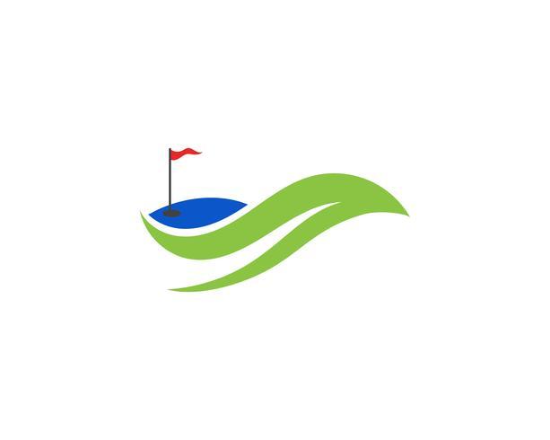Elementi di simboli delle icone del club di golf e immagini di vettore di logo