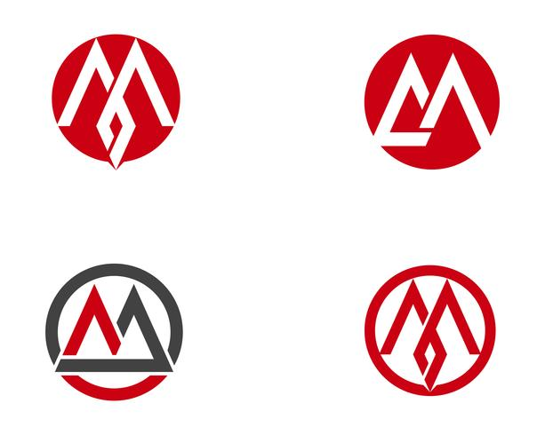 M brief Logo Business sjabloon Vector pictogram,