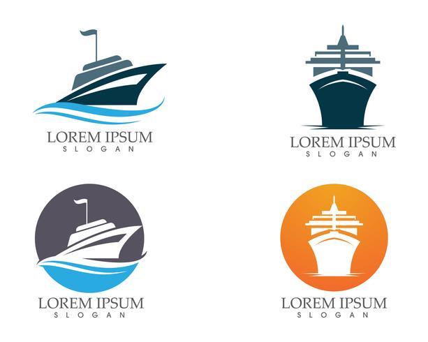 Immagine di vettore di trasporto e barca icona contorno muta nave ..