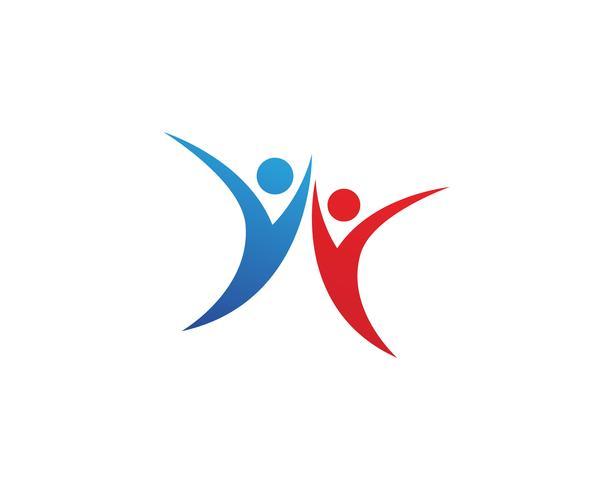 Vector de ilustración de signo de logotipo de carácter humano de personas de salud