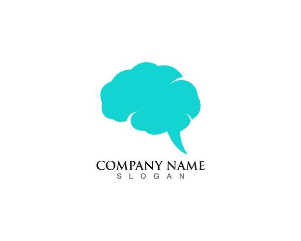 Plantilla de logotipo de cerebro y aplicación de iconos de símbolos vector