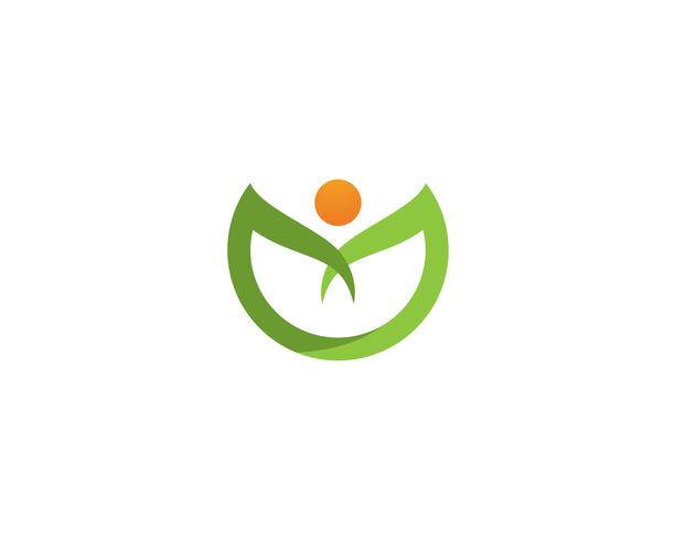 leaf green nature logo and symbol template Vector ..