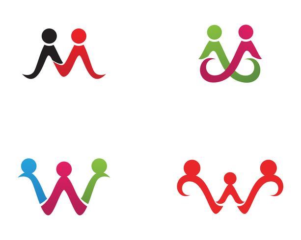 Adoptie en community care Logo sjabloon vector pictogram,