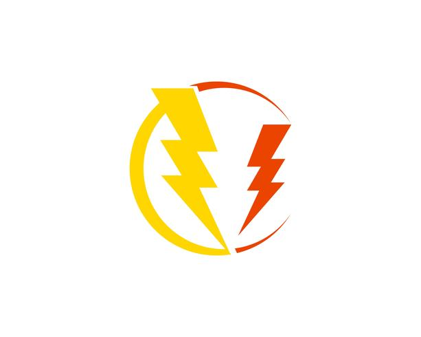 Flash power thunderbolt iconos vectoriales