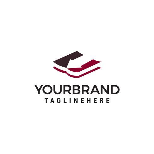 livre flèche logo design concept template vecteur