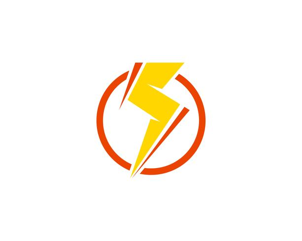 Vetor de ícones de thunderbolt de poder de flash