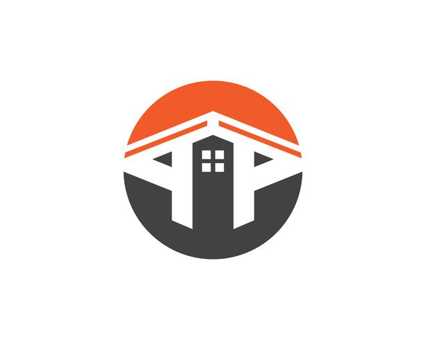 home buildings logo and symbols icons template,
