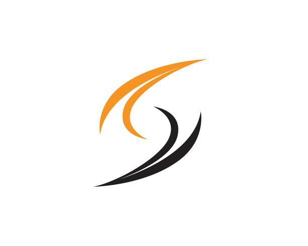 S logo y símbolos iconos vectoriales de plantilla vector