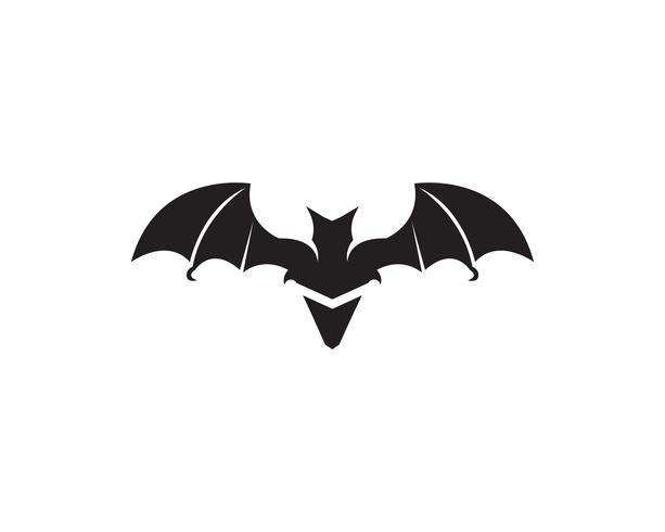 Bat black  logo template white background icons app vector