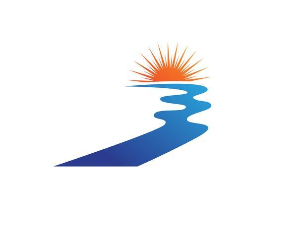 River  Logo Template vector icon illustration,,