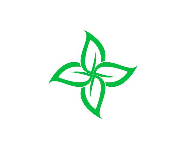 feuille verte écologie nature élément vectoriel icône,