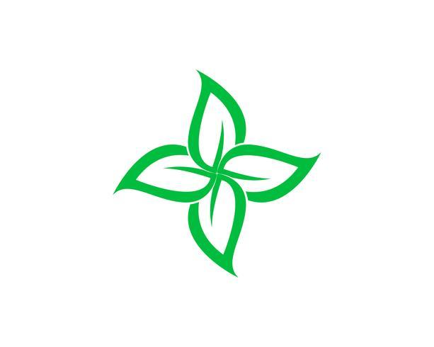 icono de elemento de naturaleza ecología hoja verde,