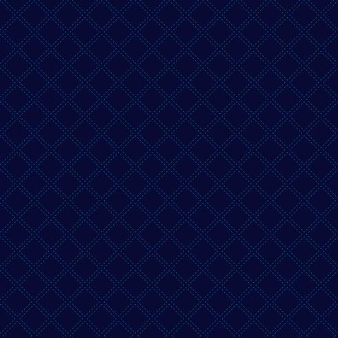 Abstract classic geometric squares pattern on dark blue background luxury style. Dashed lines repeating with square texture