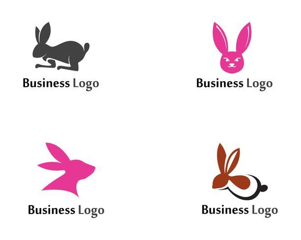 Conejo Logo plantilla vector icono plantilla de diseño de aplicaciones