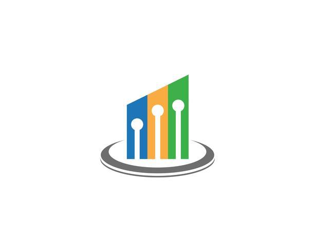 Plantilla de logotipo de finanzas de negocios vector