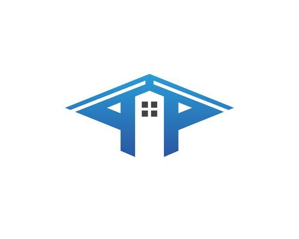 Fastighets- och anläggningsdesign Logo design för företagets företagsskylt .. vektor