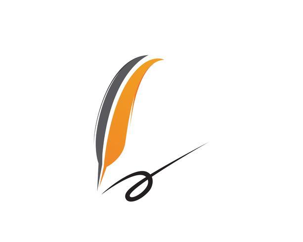 Pluma pluma escribir signo logo plantilla aplicación iconos