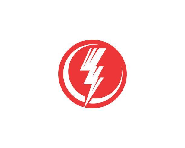 Vecteur de foudre icônes flash power