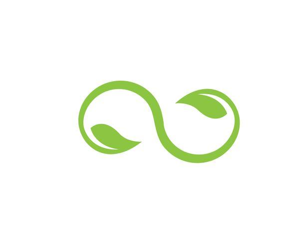 bladgrön naturlogo och symbolmall Vector ..