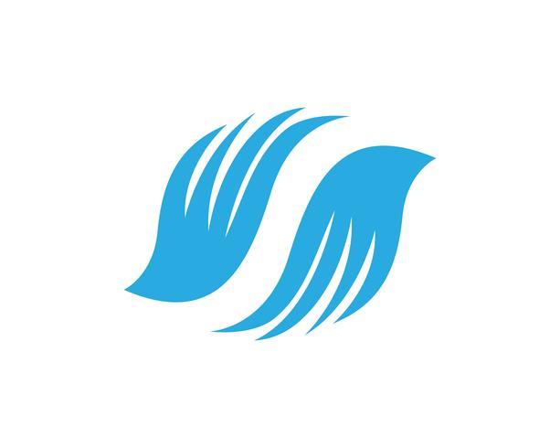 Wings bird sign plantilla abstracta iconos aplicación vector