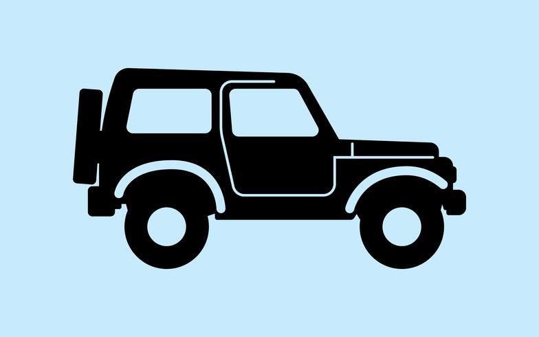 Retro car silhouette vector