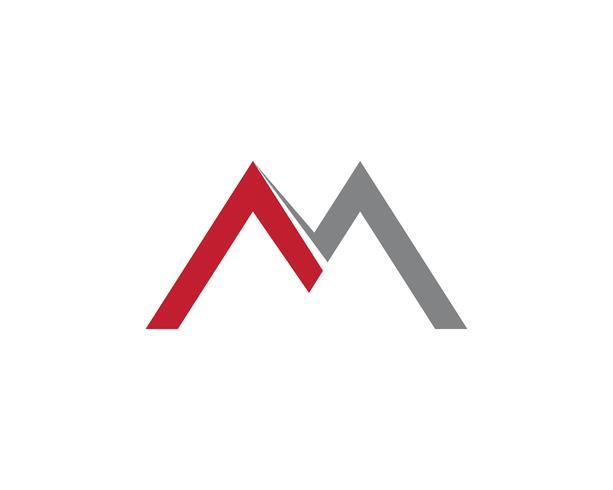 Icona di vettore del modello di affari di logo della lettera di m