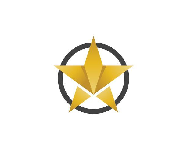 Projeto da ilustração do ícone do vetor do molde do logotipo da estrela