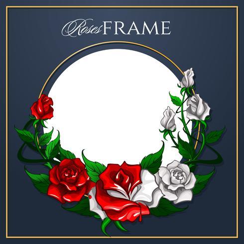 Roses Frame for greeting card