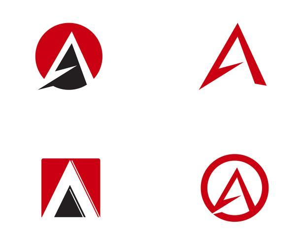 Um, letra, logotipo, modelo negócio, vetorial, ícone, vetor