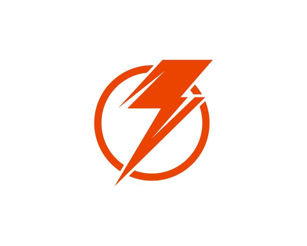 Flash power blikseminslag iconen vector