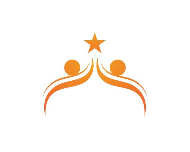 Plantilla de logotipo y símbolos de la gente de la comunidad de cebolla vector