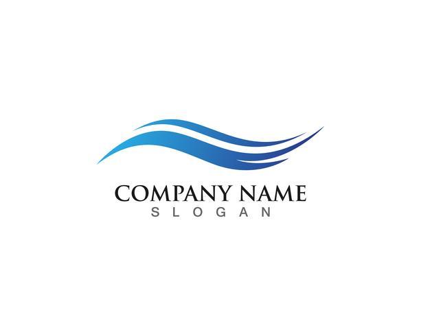 Diseño del ejemplo del vector de Logo Template del agua de la onda