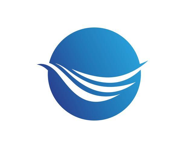 Logotipo de praia de ondas e app de ícones de modelo de símbolos vetor