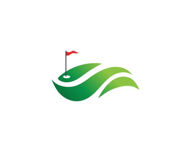 Éléments de symboles icônes club de golf et images vectorielles logo