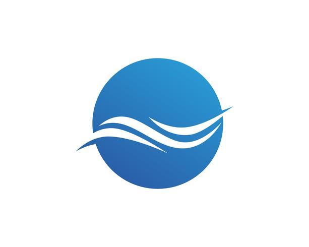 Icône et symbole de la vague de l'eau Logo modèle vectoriel. vecteur