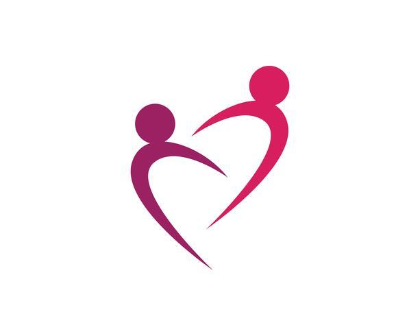Personnes de la santé Caractère humain logo signe illustration vectorielle vecteur