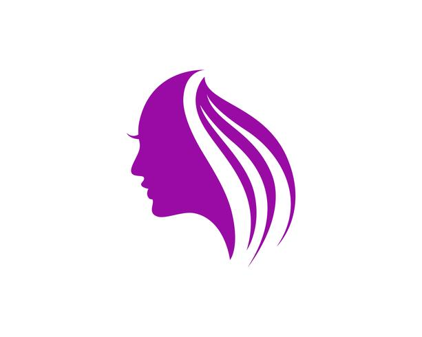 hair woman and face logo and symbols ,, vector