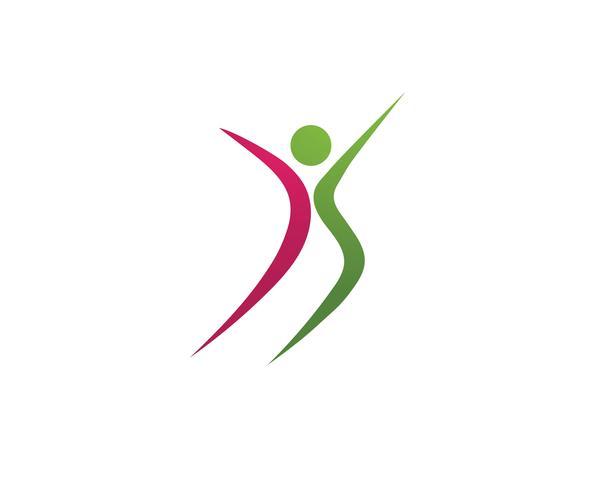 Pessoas de saúde Human character character logo vector de ilustração
