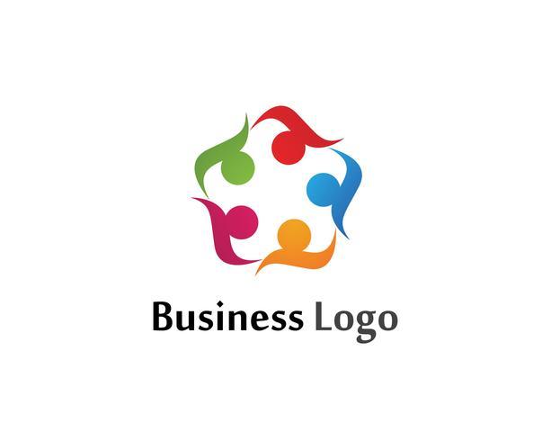 As pessoas da cebola do grupo da comunidade importam-se o molde do logotipo e dos símbolos vetor