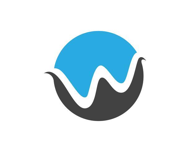 W letras logotipo de empresa y plantilla de símbolos, vector